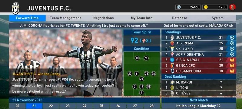 Pro Evolution Soccer (PES) 2016 - Free Download