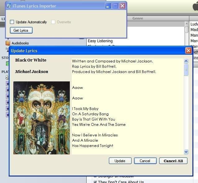 iTunes Lyrics Importer - Free Download