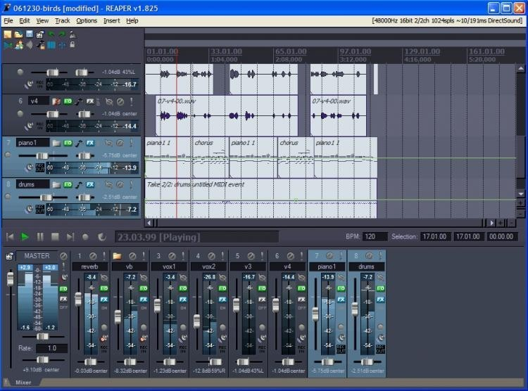 You thanks amateur program recording software reaper that interfere