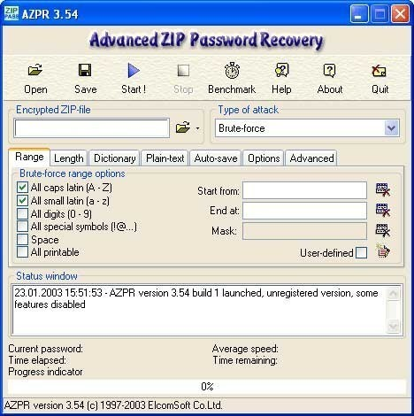 Advanced ZIP Password Recovery - Free Download