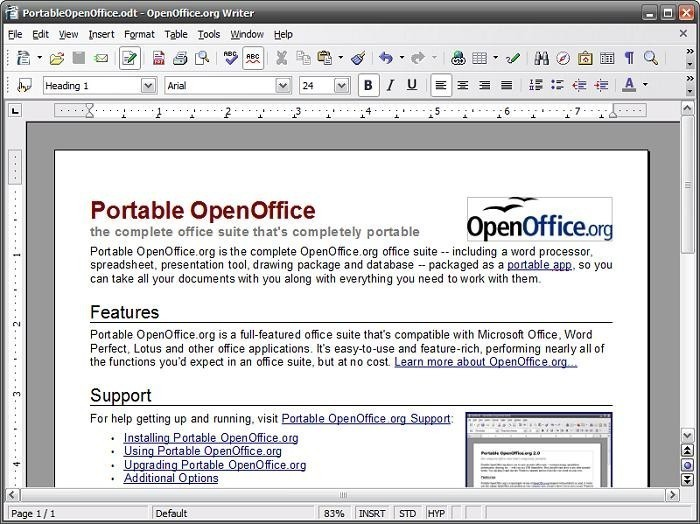 Portable OpenOffice org - Free Download