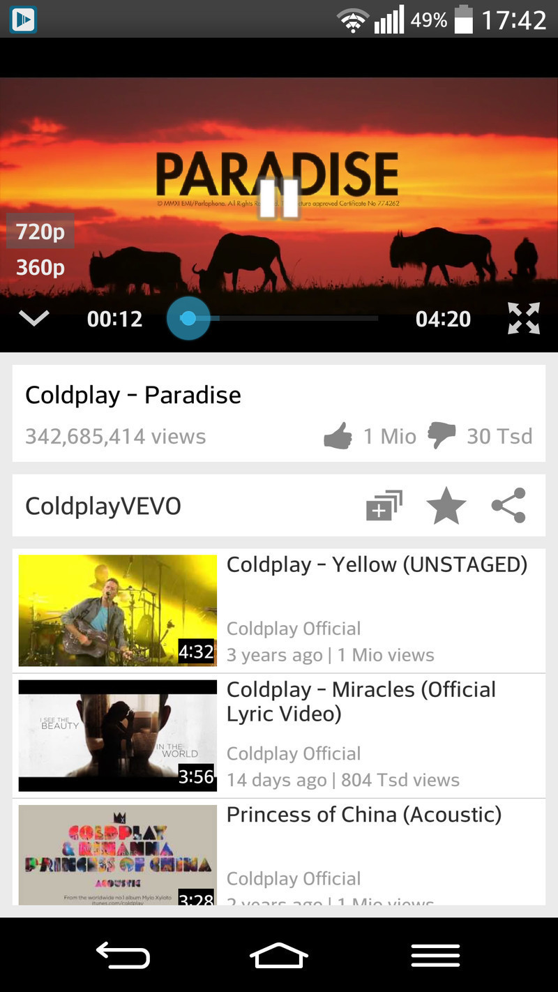Tubetastic Youtube Player for Android - Free Download