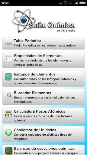 Suite qumica para android descargar gratis imagen 1 de suite qumica para android urtaz Choice Image