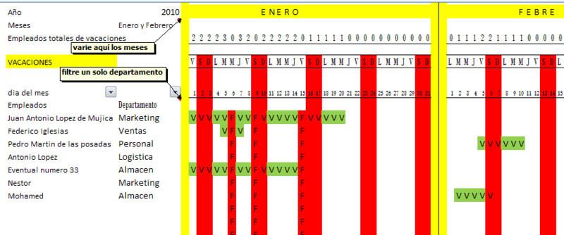 Calendario Vacaciones.Empleados Y Calendario Vacaciones En Excel Opiniones Precios Y Demo