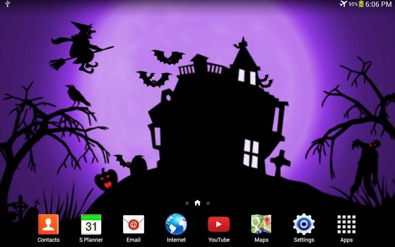 Halloween Noche Fondo Animado Para Android