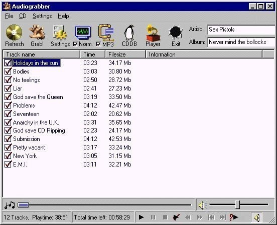 audiograbber pour windows 7