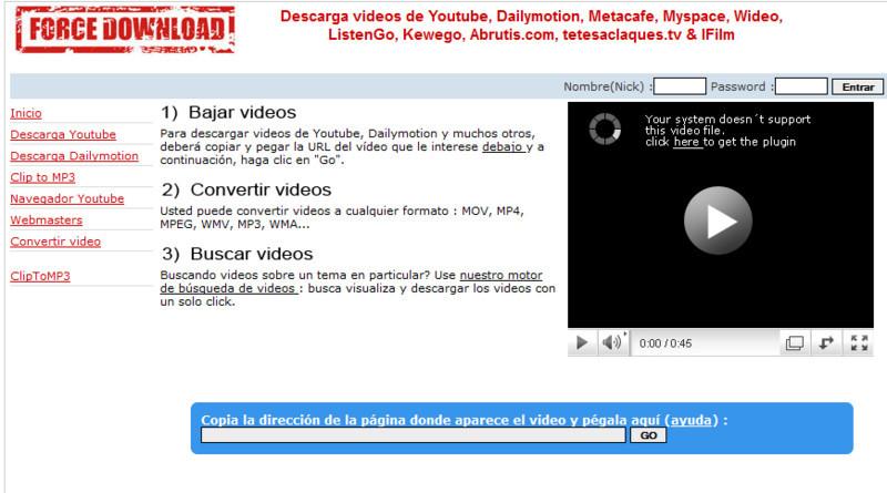 Como descargar un video en force download