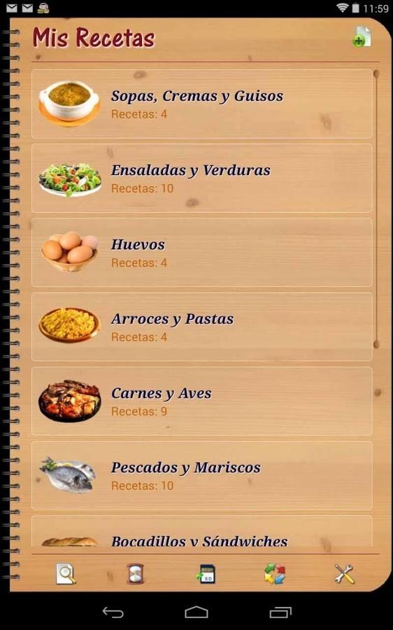 Mi libro de recetas para android descargar gratis for Programa para amueblar cocinas gratis