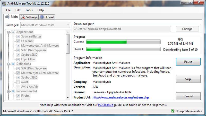 Anti-Malware Toolkit Portable - Descargar Gratis