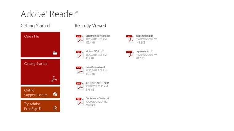 pdf reader gratuit windows 8