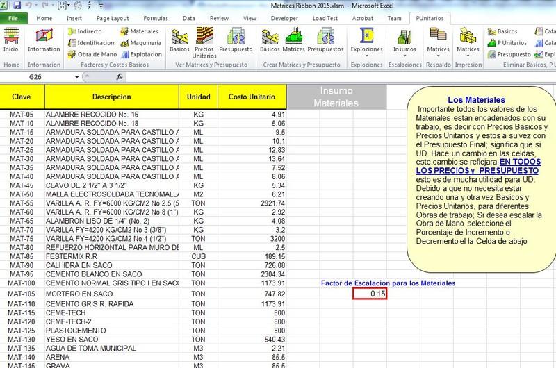 Matrices de precios unitarios y presupuestos opiniones for Precios de construccion