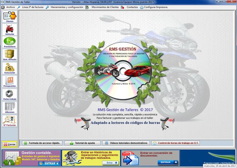 programa para taller de motos