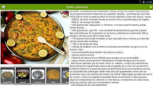 Recetario recetas de cocina para android descargar gratis for Resetas para comidas