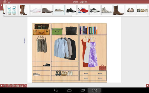 Ez closet dise o de armarios para android descargar gratis for Software diseno de interiores gratis