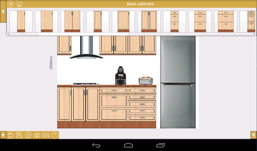 Ez kitchen dise o de cocinas para android descargar gratis for Programa para disenar closet