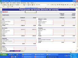 Excel presupuesto de eventos opiniones precios y demo for Programa para hacer presupuestos