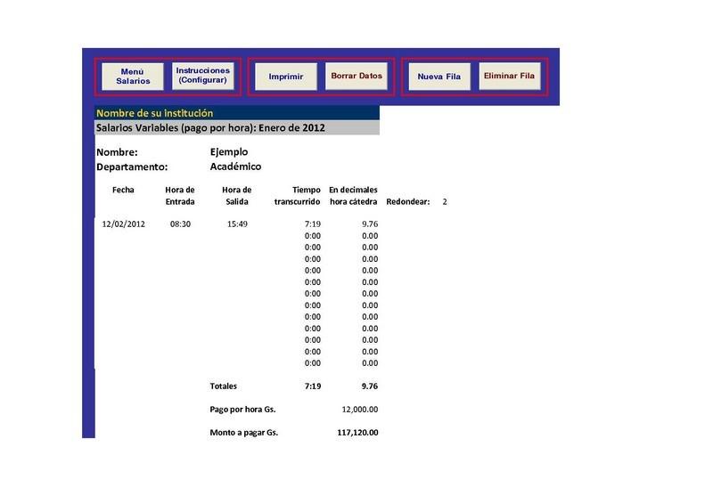 Calculadora De Sueldos Y Salarios (Excel)