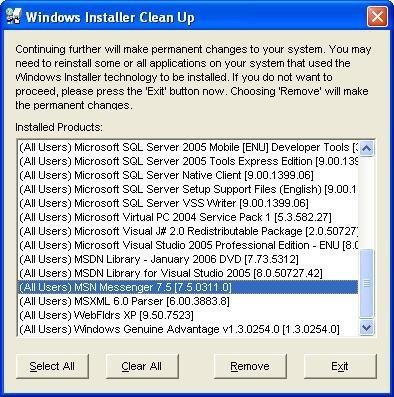Windows Installer CleanUp Utility - Descargar Gratis