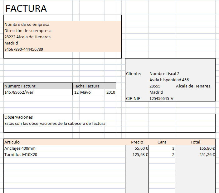 Facturacion distintas tarifas en Excel - Opiniones, precios y demo