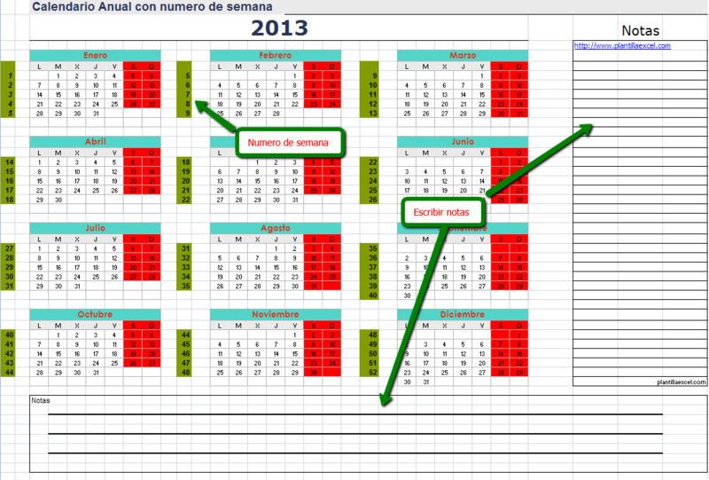 Calendario De Semanas.Calendario 2013 Con Numero De Semana Opiniones Precios Y Demo