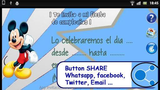 crear invitaciones cumpleaños para android descargar gratis