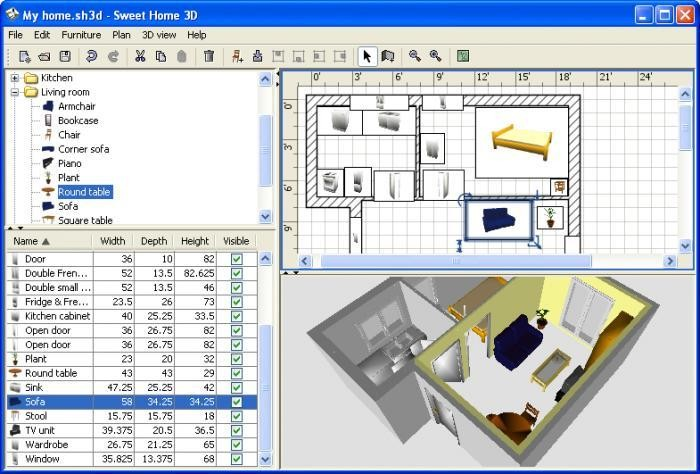 Sweet home 3d descargar gratis for Programa para planos en 3d