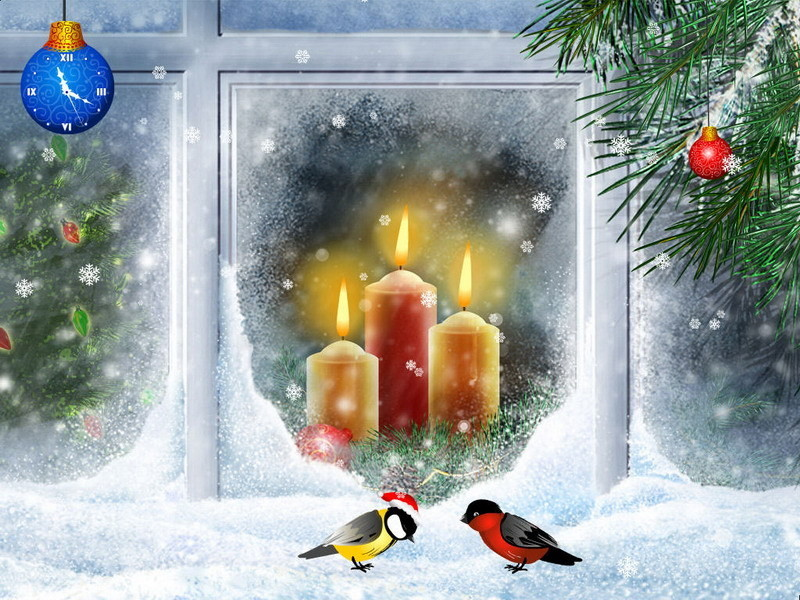 salvapantallas christmas candles descargar gratis. Black Bedroom Furniture Sets. Home Design Ideas