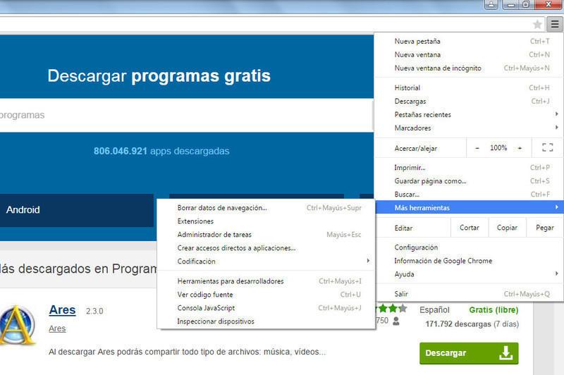 descargar google chrome gratis sin virus para windows 7