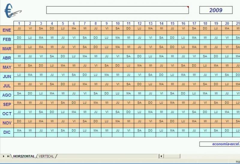 Calendario Excel 2010 - Descargar Gratis