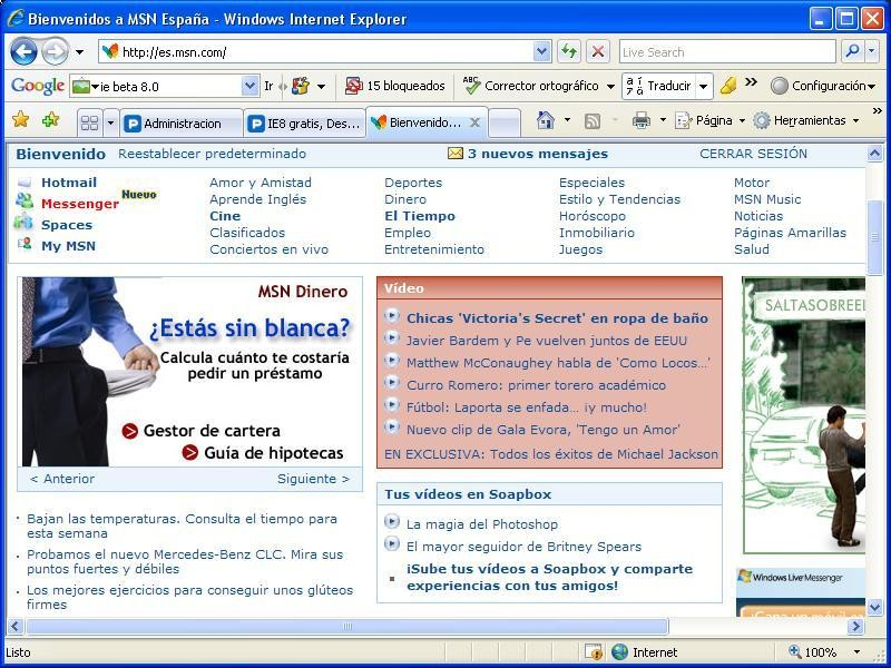 Internet explorer 8 final descargar gratis for Ver mis descargas