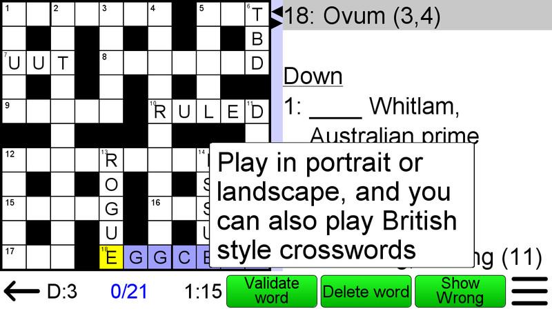 Arrow crossword para android descargar gratis for Espectaculo que resulta muy aburrido crucigrama