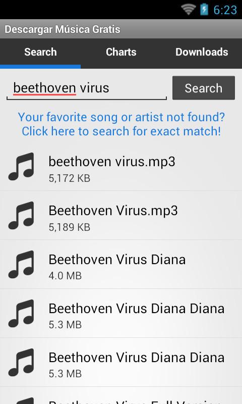 descargador de musica gratis