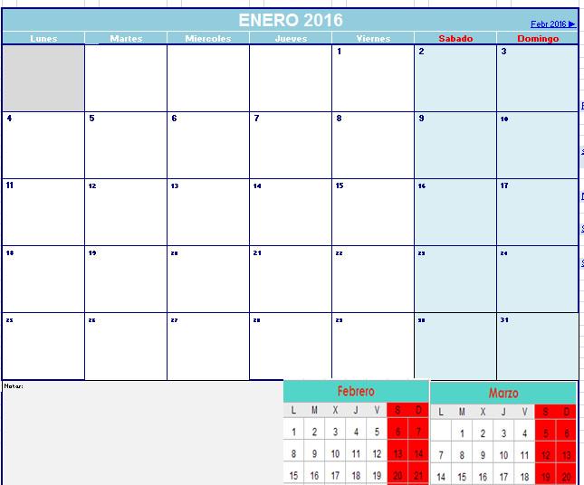 calendario 2016 opiniones precios y demo
