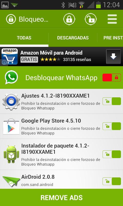 f6168ba1d ... Imagen 2 de Bloqueo WhatsApp para Android ...