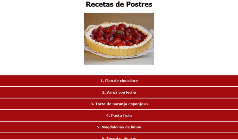 recetas de postres gratis
