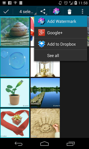 how to add watermark in word android