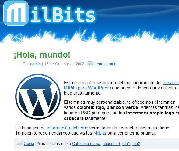 Tema MilBits para WordPress - Descargar Gratis