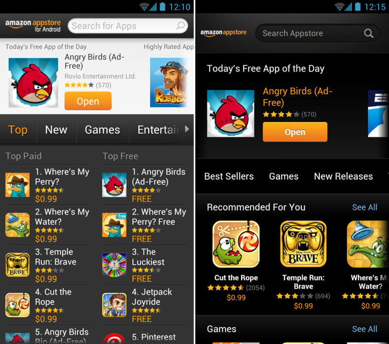 App store pour android