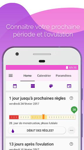 cycle menstruel calendrier pour android t l charger gratuitement. Black Bedroom Furniture Sets. Home Design Ideas