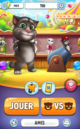 """""""My Talking Tom"""" offers users an exclusive monthly subscription with additional exclusive gameplay features as an optional in-app purchase. Tom's Game Squad monthly subscription is available on a monthly basis and priced at $4.99 per month."""