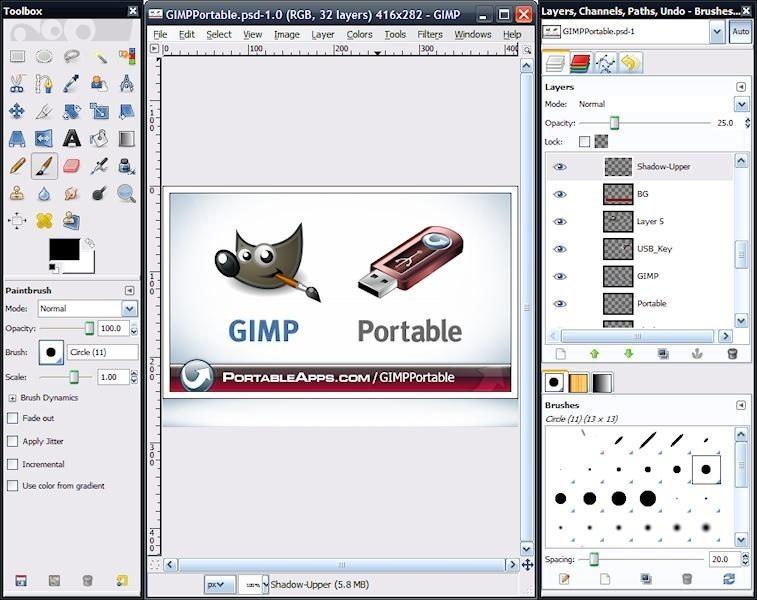 GRATUITEMENT PORTABLE GIMP TÉLÉCHARGER 2.6