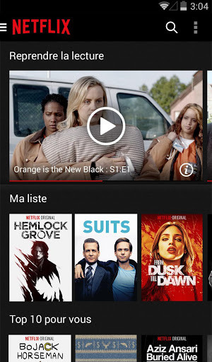 telecharger netflix pour android
