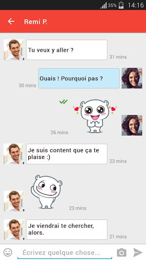 Chatter et rencontres applications pour Android