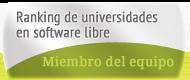 Miembro del equipo de RuSL, Ranking de Universidades en Software Libre