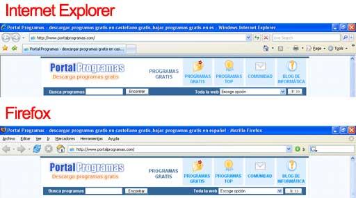 Firefox e Internet Explorer