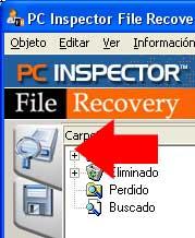 Escoger unidad recuperar archivos