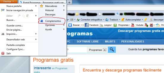 Complementos Firefox