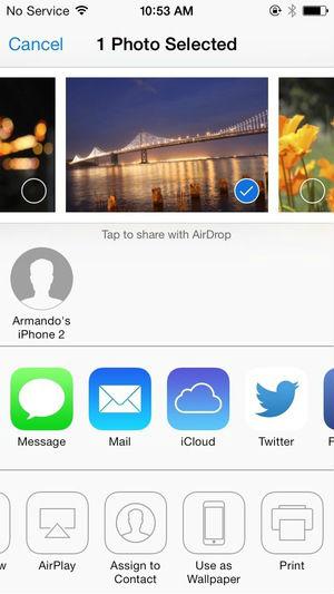 AirDrop para iOS 7