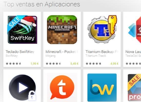 Top ventas en Google Play