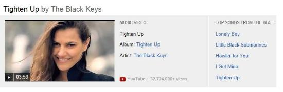 Búsqueda de canción en Bing vídeos
